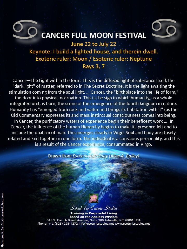Full moon festival of Cancer