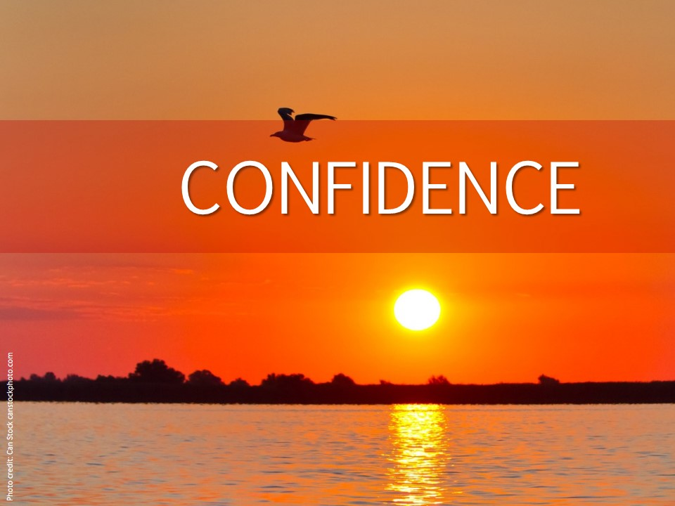 Image evoking confidence