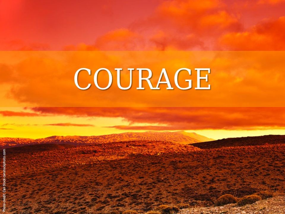 Image evoking courage