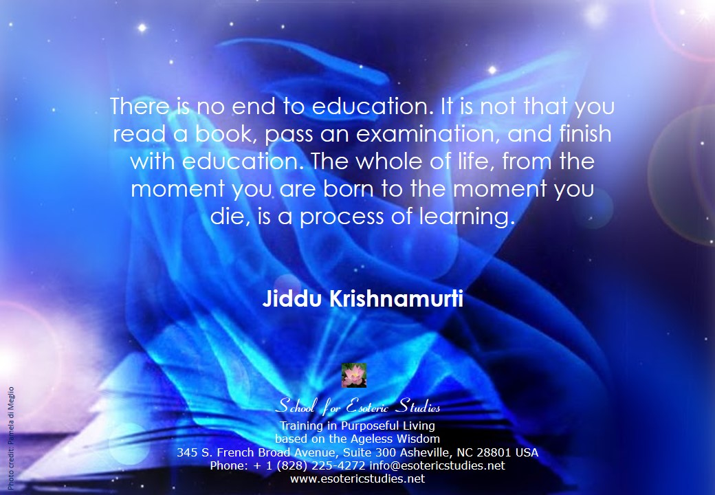 Quote about the value of life-long education