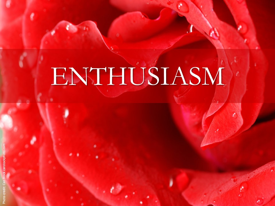 Image evoking enthusiasm