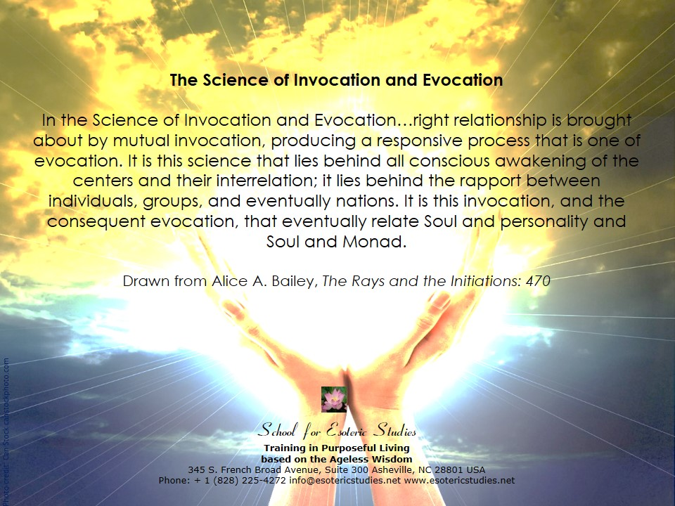 Definition of the Science of Invocation and Evocation