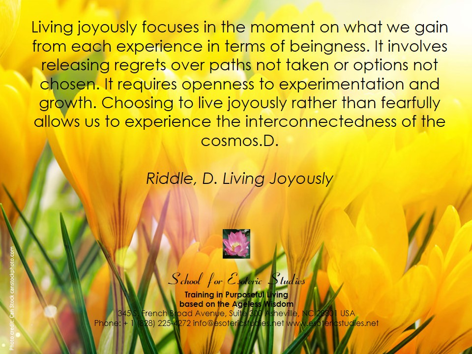 Quote about cultivating joy