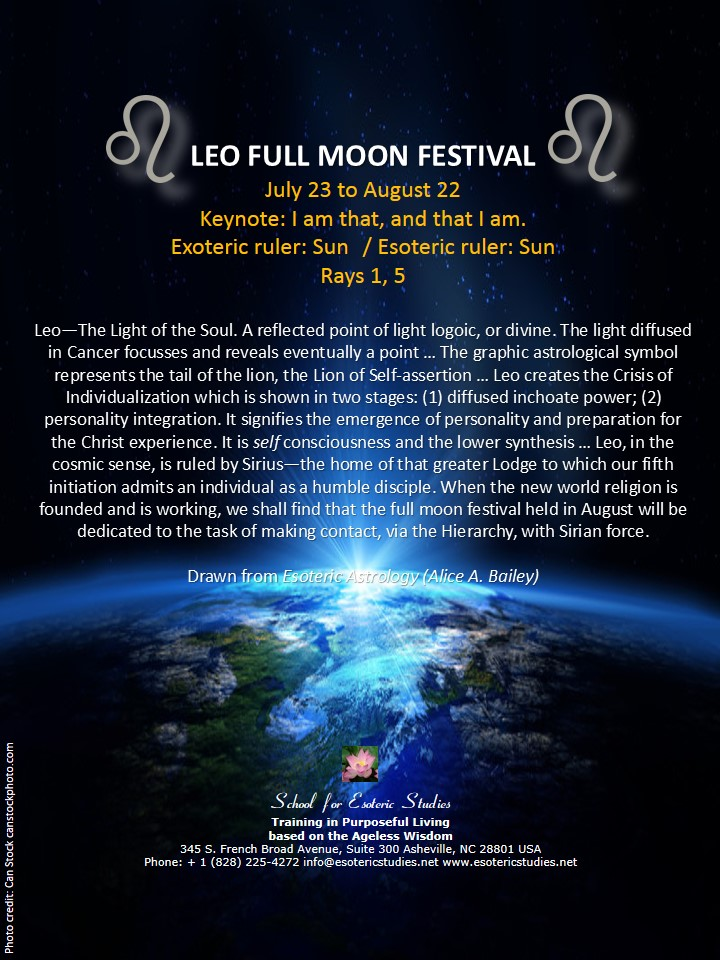 Full moon festival of Leo