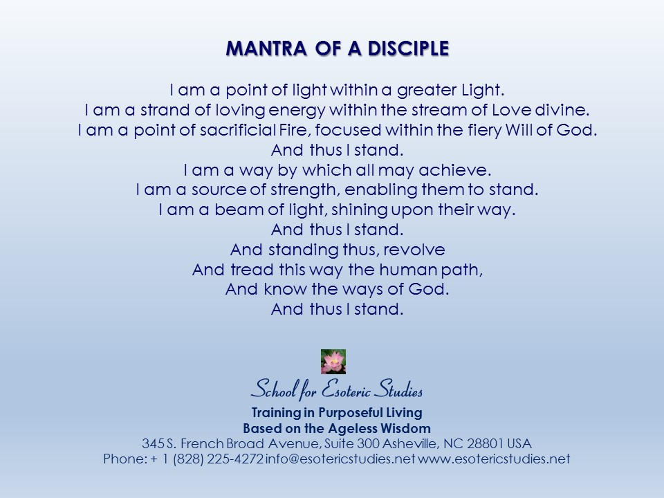 Mantra of a Disciple