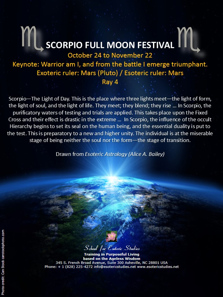Full moon festival of Scorpio