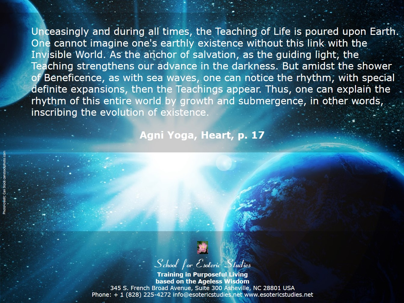 Quote about the Ageless Wisdom Teachings